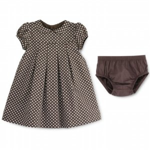 The dress I liked looked like this, but it is lilac with brown polkadots, not brown with white polkadots