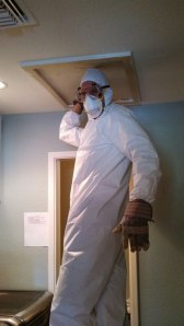 Martin in the insulation suit