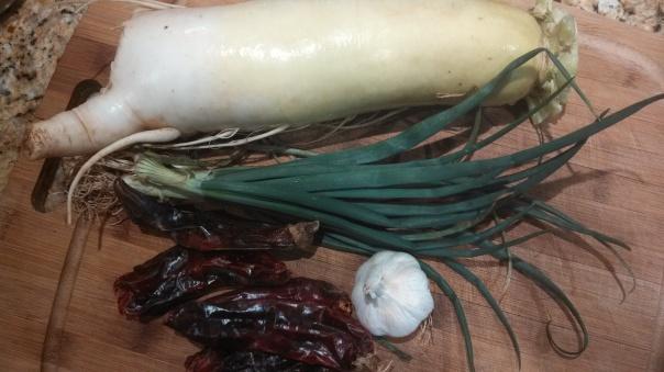 Radish kimchi (kkakdugi) veggies!